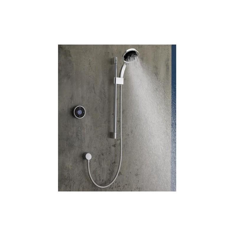 Mira Platinum Rear Fed Digital Shower High Pressure Black/Chrome