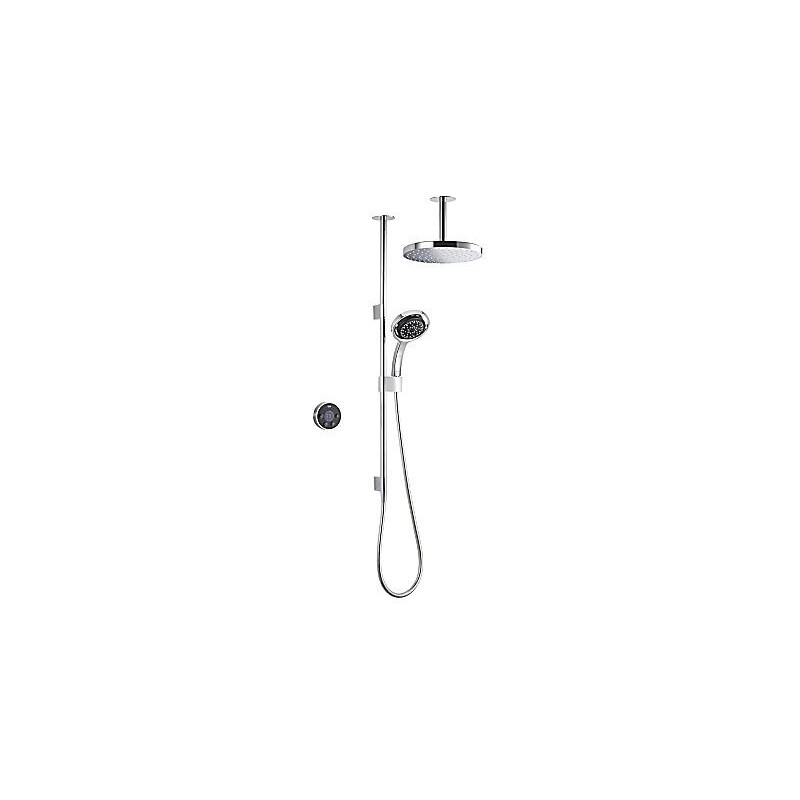 Mira Platinum Dual Ceiling Fed Shower High Pressure Black/Chrome