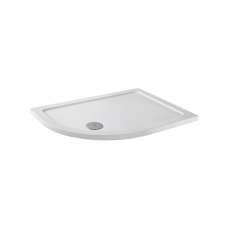 MX Elements 900 x 760mm Offset Quadrant Left Hand Anti-Slip Tray