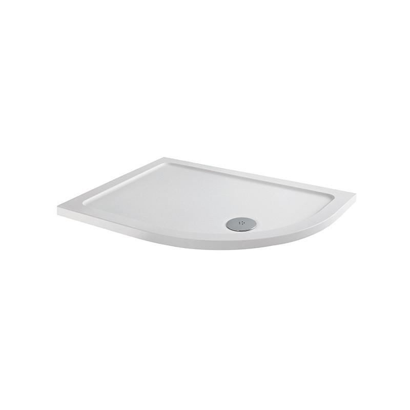 MX Elements 900 x 760mm Offset Quadrant Right Hand Anti-Slip Tray