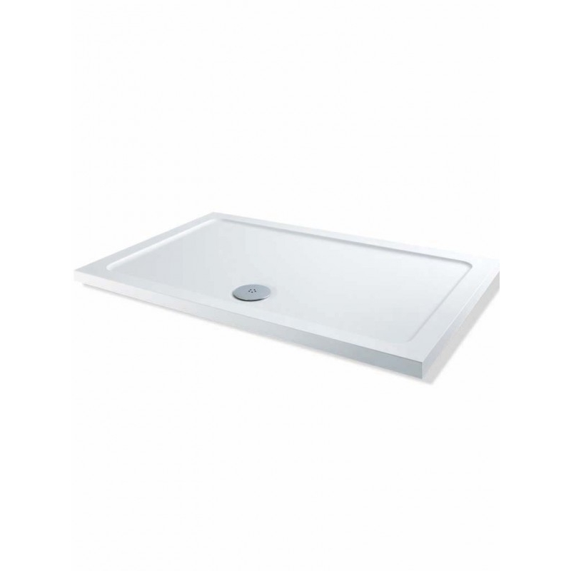 MX Elements Low Profile 800 x 700mm Shower Tray & 90mm Waste