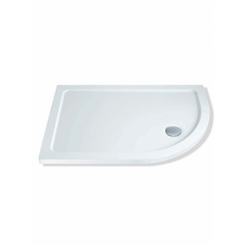 MX Elements 1000 x 760mm Offset Quad Right Shower Tray & Waste