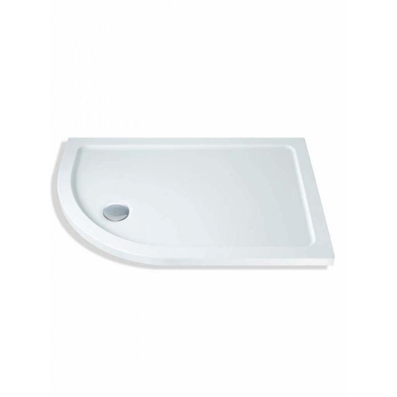 MX Elements 1000 x 900mm Offset Quad Left Shower Tray & Waste