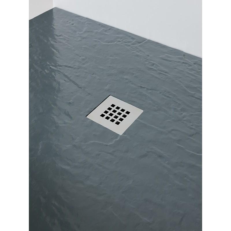 MX Minerals 1000 x 800mm Rectangular Shower Tray Ash Grey