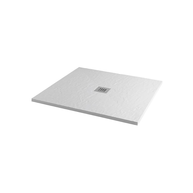 MX Minerals 1000 x 1000mm Square Shower Tray Ice White