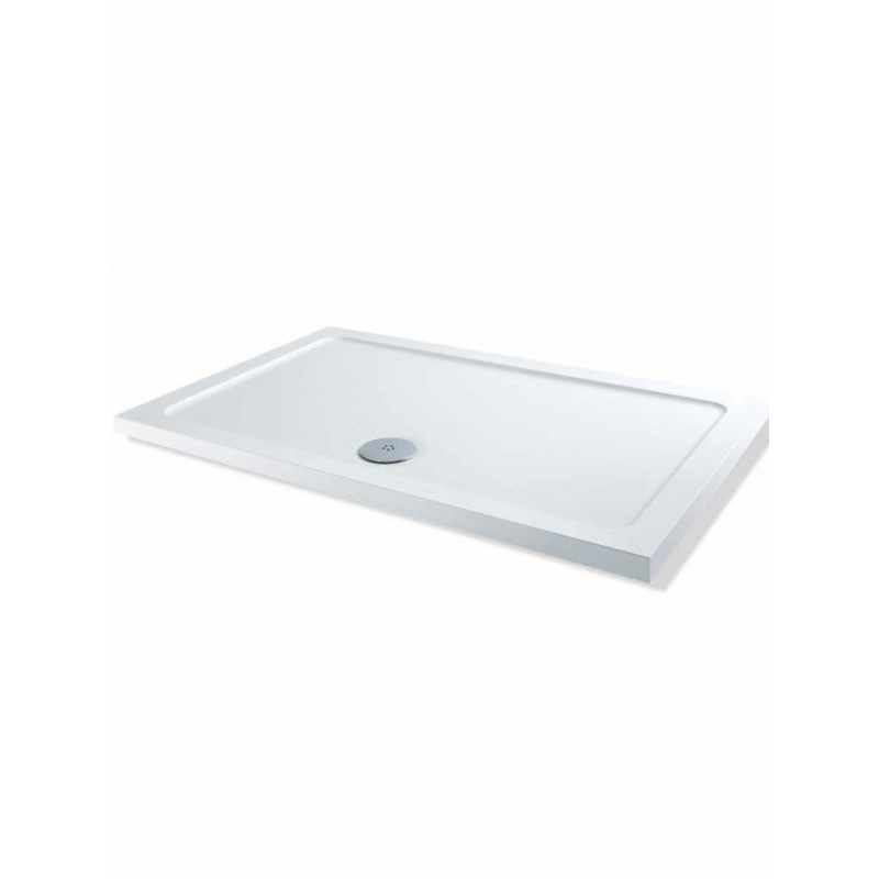 MX DucoStone Low Profile 1200 x 760mm Shower Tray & 90mm Waste