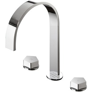 Newform Park 3 Hole Basin Mixer with High Spout & Waste