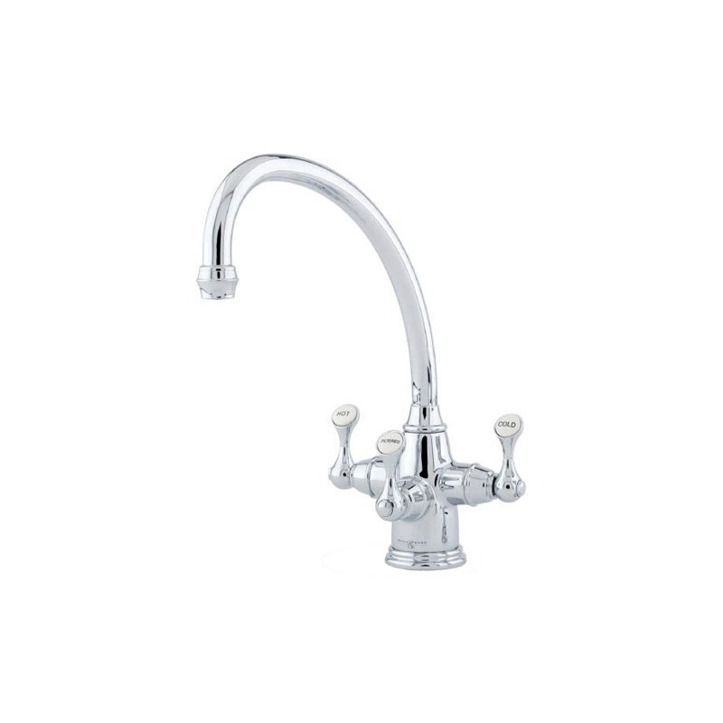 Perrin & Rowe Etruscan Sink Mixer with Filtration Pewter
