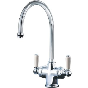 Perrin & Rowe Parthian Dual Sink Mixer with Filtration Chrome
