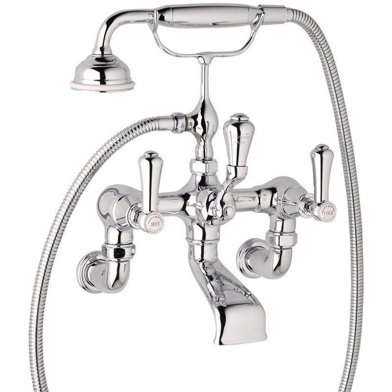 Perrin & Rowe Georgian Lever Wall Bath Shower Mixer Nickel