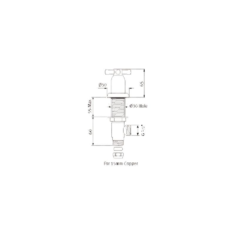 """Perrin & Rowe Pair of 1/2"""" Contemporary Crosstop Deck Valves Nickel"""
