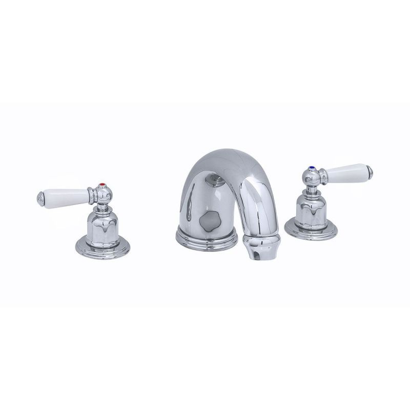 """Perrin & Rowe 10"""" 3 Hole Bath Set with Lever Handles Pewter"""