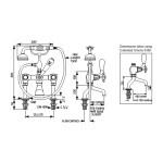 Perrin & Rowe Traditional Crosstop Bath Shower Mixer Nickel