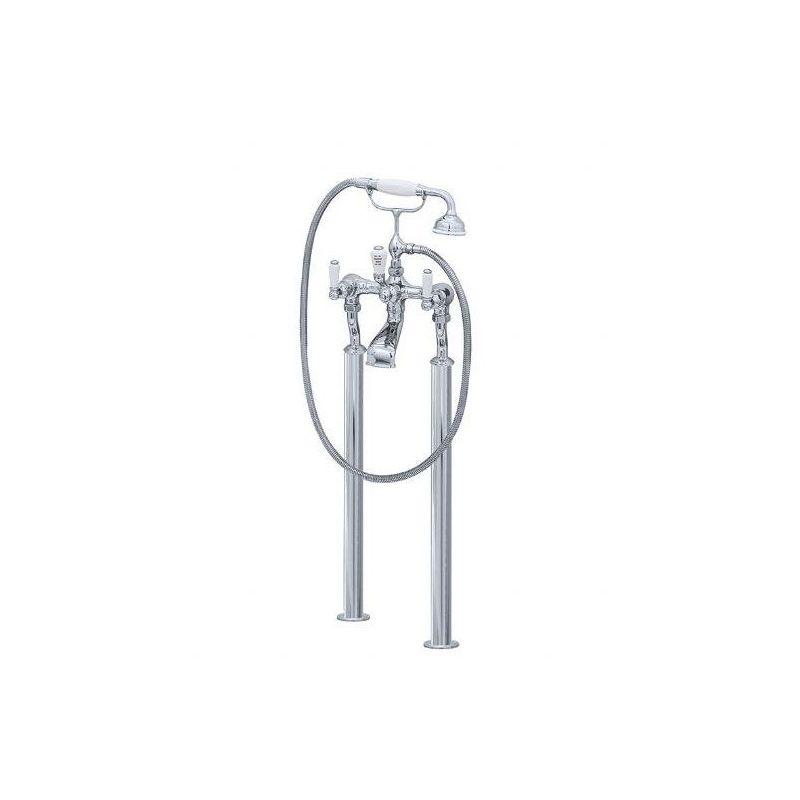 Perrin & Rowe Traditional Bath Shower Mixer & Floor Legs, Lever