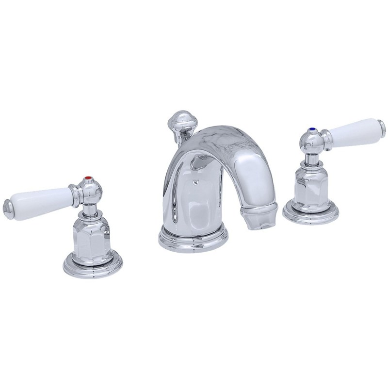 Perrin & Rowe 3 Hole Lever Basin Set High Neck Spout Gold