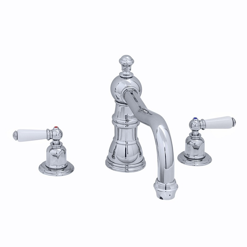 Perrin & Rowe 3 Hole Lever Bath Mixer Country Spout Gold