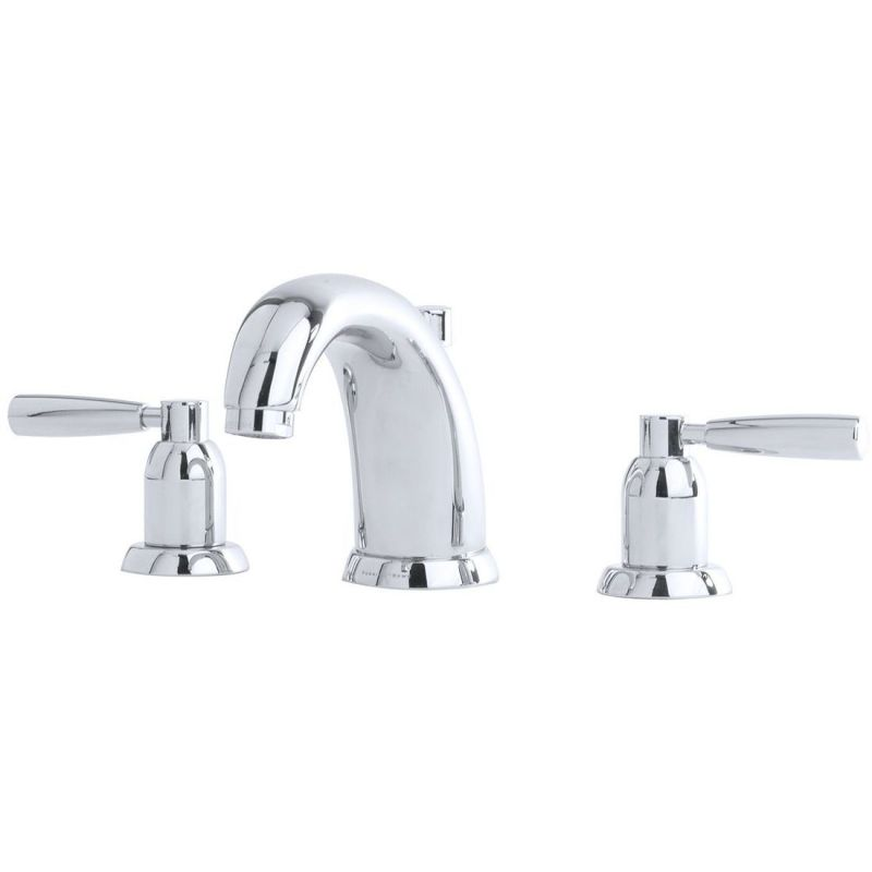 Perrin & Rowe 3 Hole Basin Set with Lever Handles Pewter