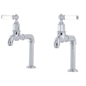 Perrin & Rowe Mayan Deck Mounted Taps with Lever Handles Chrome