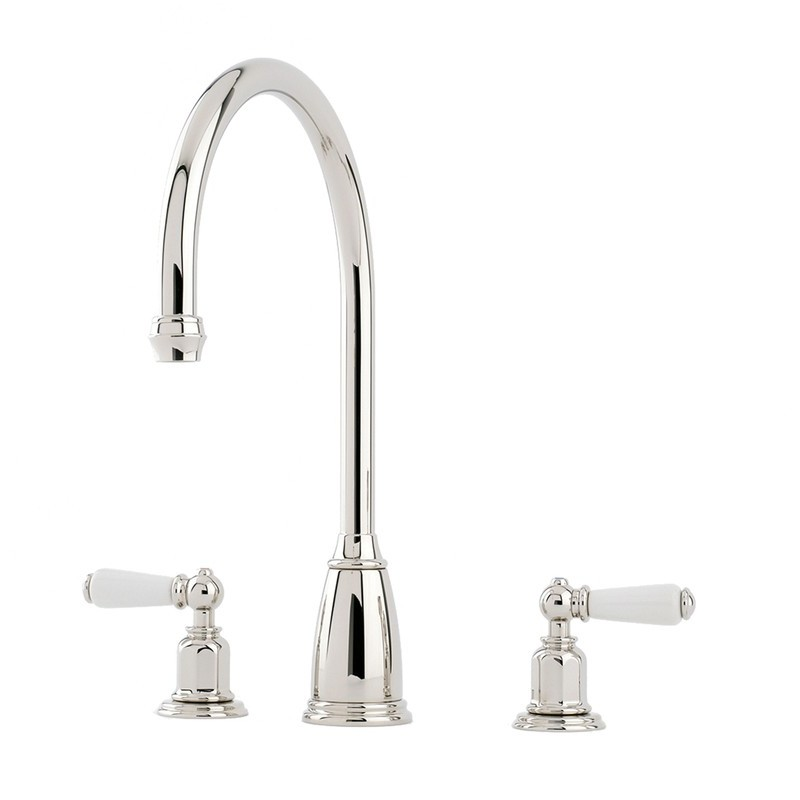 Perrin & Rowe Athenian 3 Hole Sink Mixer Lever Handles Chrome