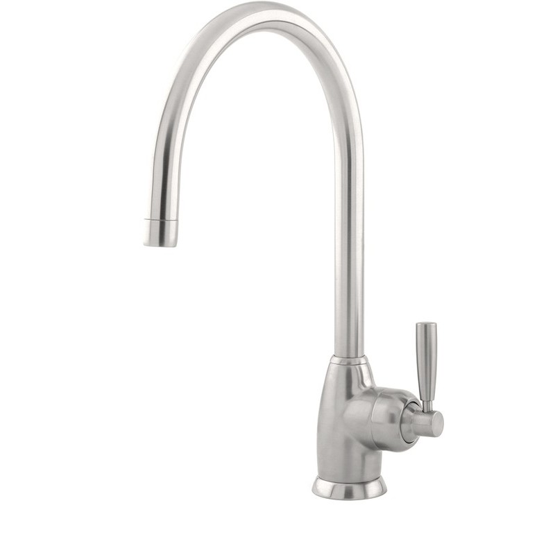 Perrin & Rowe Mimas Sink Mixer with C Spout Pewter