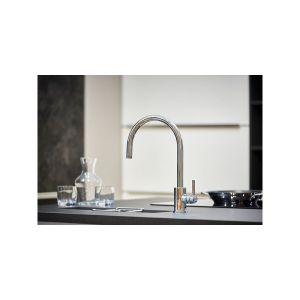 Perrin & Rowe Juliet Sink Mixer with C-Spout, Satin Brass