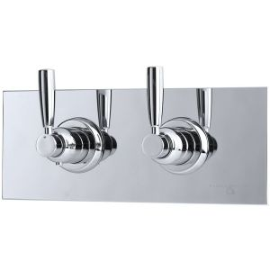 Perrin & Rowe Contemporary Lever Concealed Mixer & Shut-Off Nickel
