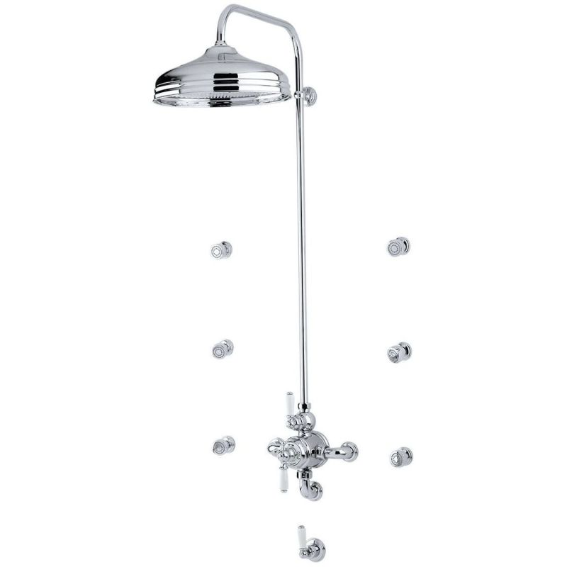 Perrin & Rowe Shower Outlet Connector 200mm Chrome