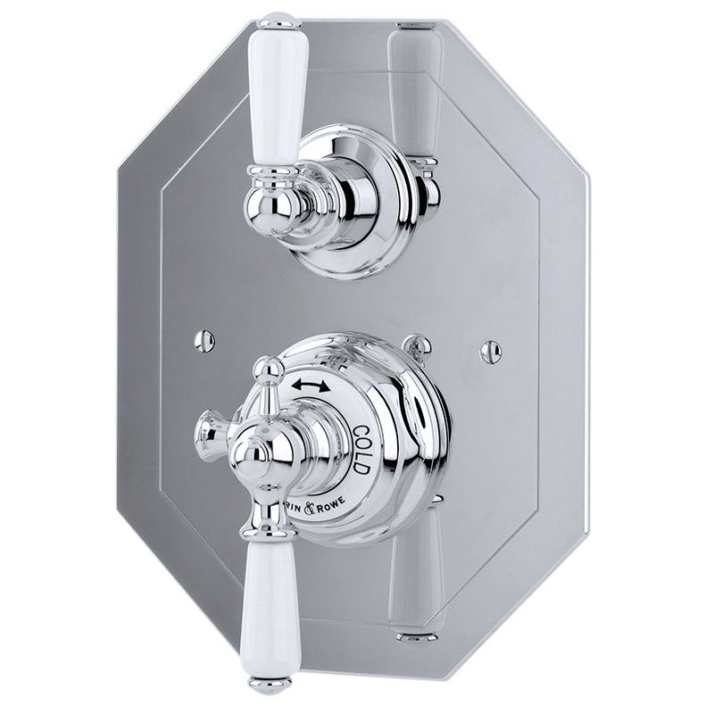Perrin & Rowe Concealed Thermostatic Shower Mixer Pewter
