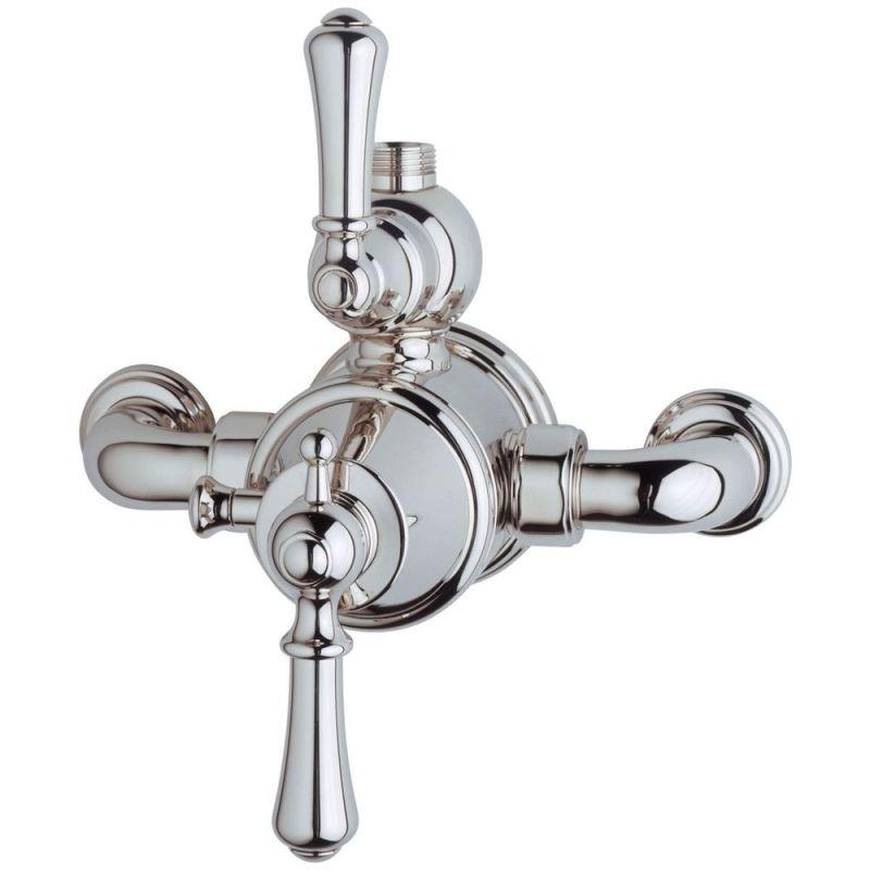 Perrin & Rowe Georgian Lever Exposed Shower Mixer Pewter
