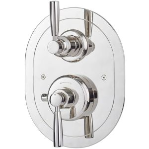 Perrin & Rowe Contemporary Concealed Shower Mixer, Nickel