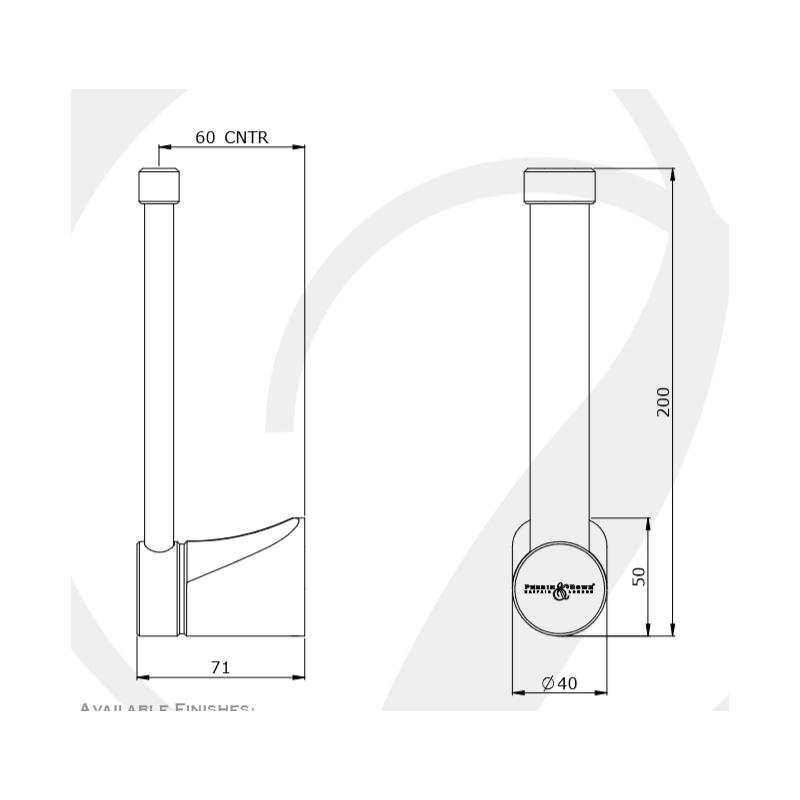 Perrin & Rowe Hoxton Spare Toilet Roll Holder Chrome