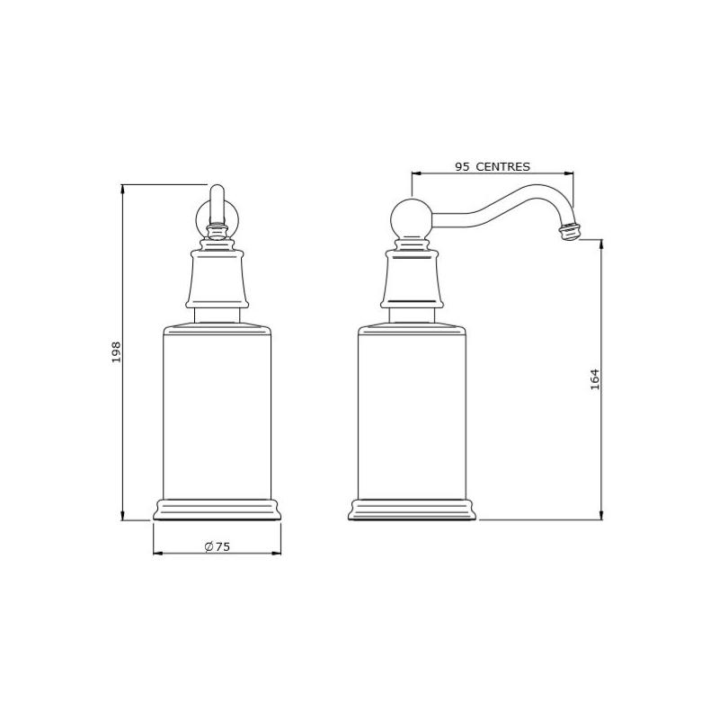 Perrin & Rowe Georgian Country Freestanding Soap Dispenser Chrome