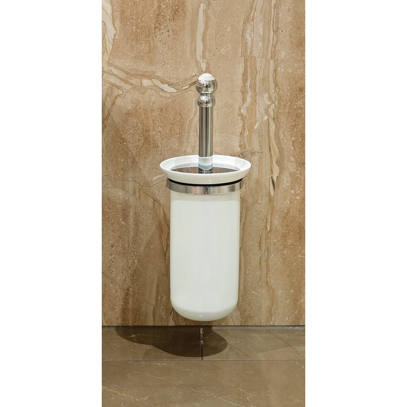 Perrin & Rowe Wall Toilet Brush Holder Gold