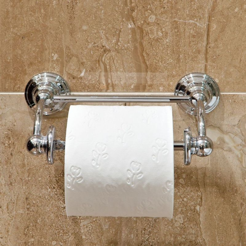 Perrin & Rowe Pivot Bar Toilet Roll Holder Chrome