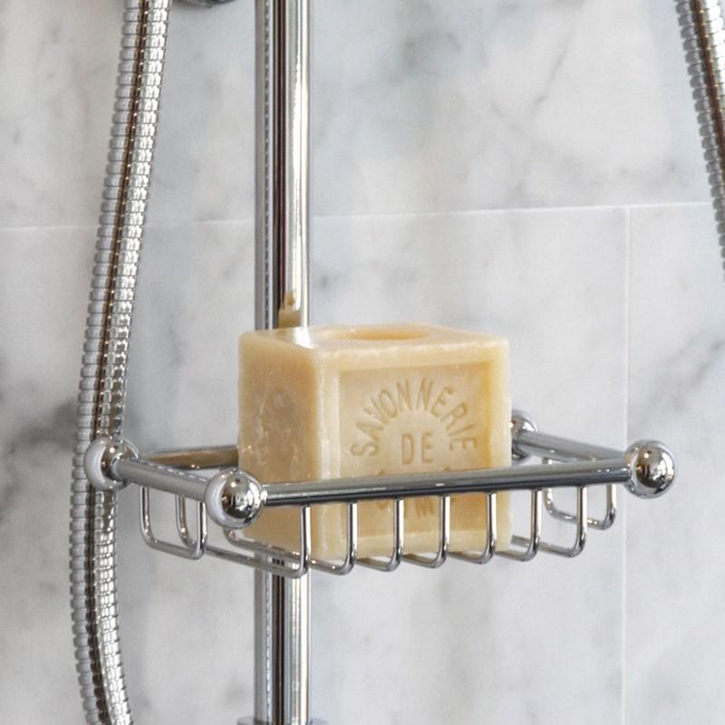 Perrin & Rowe Sliding Rail Soap Basket Gold