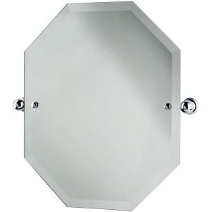 Perrin & Rowe Octagonal Mirror 625mm x 500mm Chrome