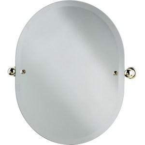 Perrin & Rowe Oval Mirror 625mm x 500mm Chrome