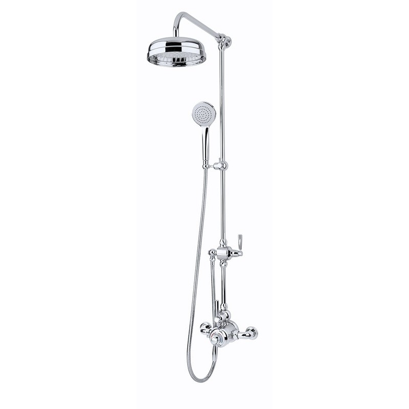 Perrin & Rowe Contemporary Shower Set A One Pewter