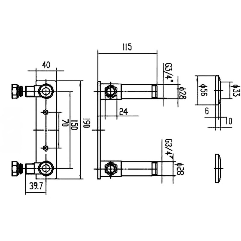 Premier Recessed Fast-Fit Bracket for Bar Thermostats