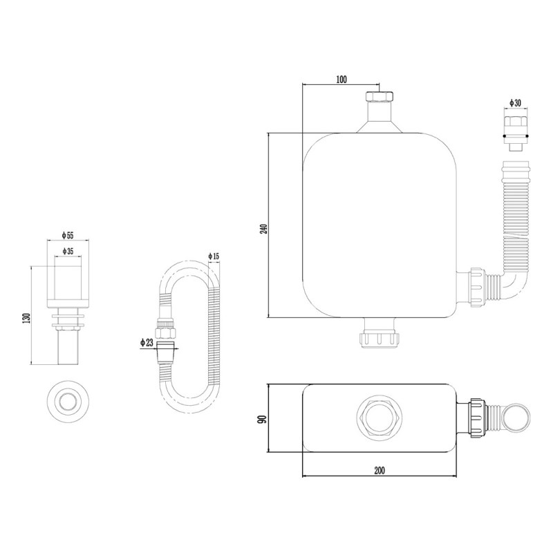 Premier Deck Shower Kit