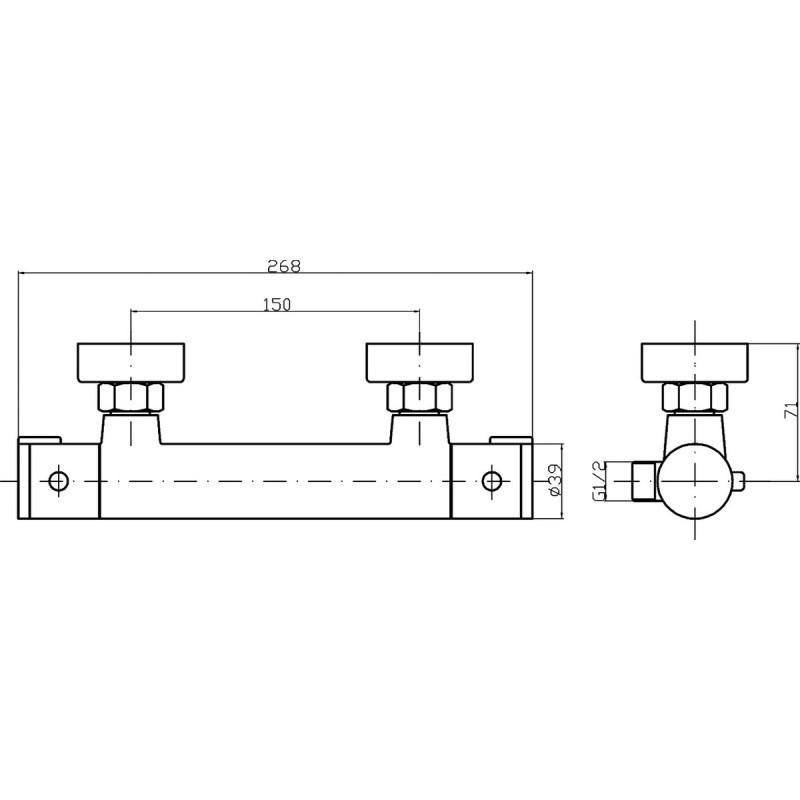 Premier Minimalist Thermostatic Bottom Outlet Bar Valve
