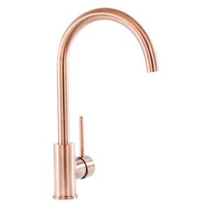 Prima+ Swan Neck Single Lever Mixer Tap Copper