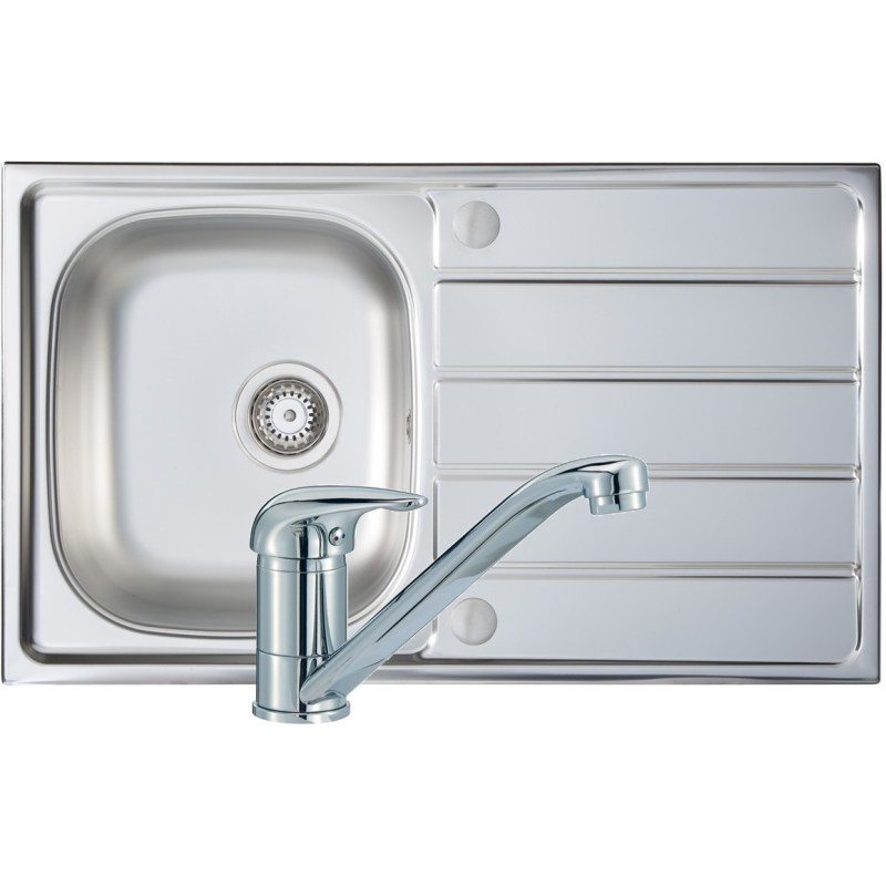 Prima 1B 800x500mm Stainless Steel Sink & Single Lever Tap Pack