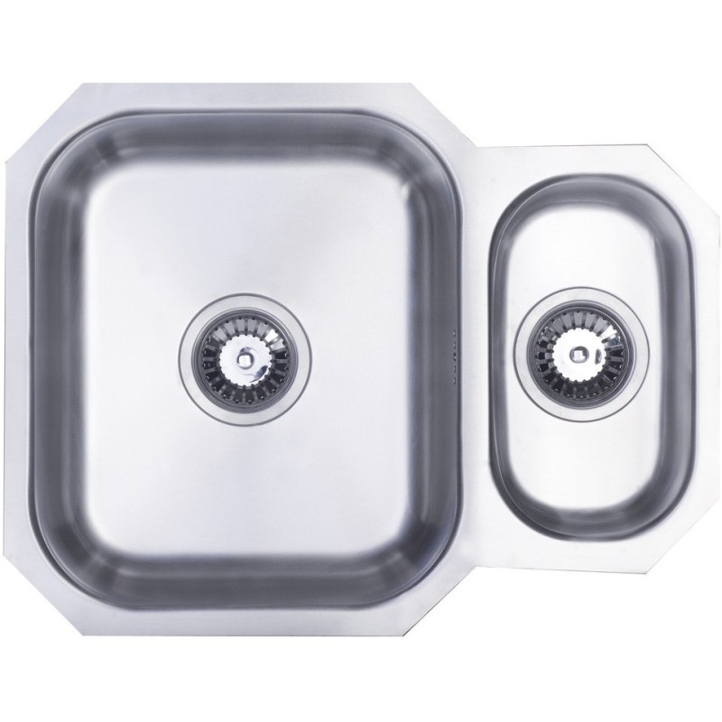 Prima 1.5B Undermount Reversible Sink Polished Steel