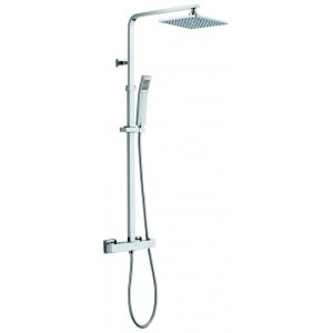 Pura Bloque2 Dual Outlet Bar Valve with Fixed Head & Handset