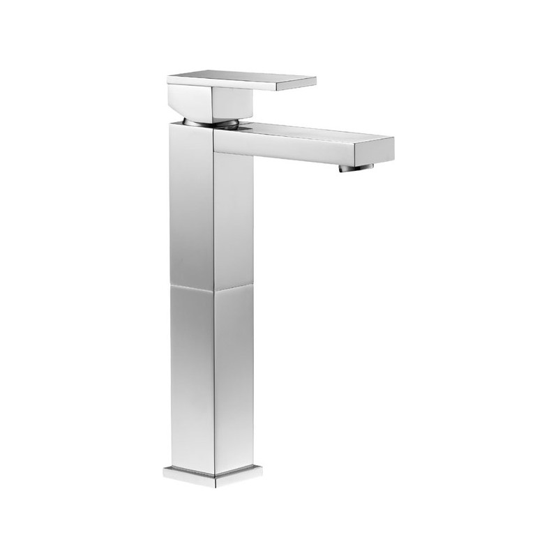 Pura Bloque Tall Single Lever Basin Mixer with Clicker Waste