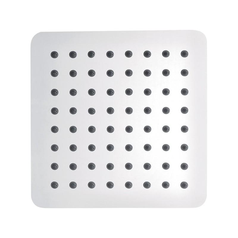 Pura Slimline Stainless Steel Square 200mm Shower Head