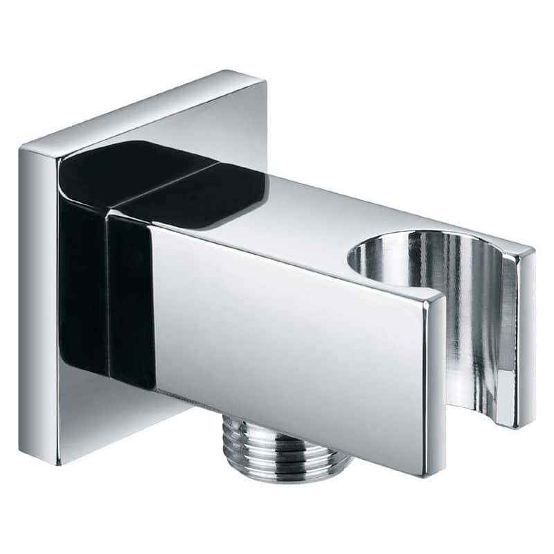 Pura Square Wall Outlet Elbow with Bracket