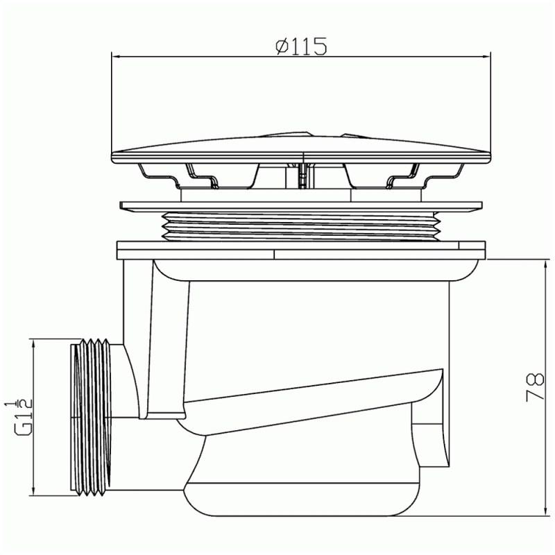 Pura 90mm Fastflow Shower Waste