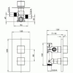 Pura Sq2 Single Outlet Dual Control Concealed Shower Valve